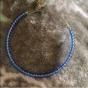 Small blue beaded Alex and ani bracelet